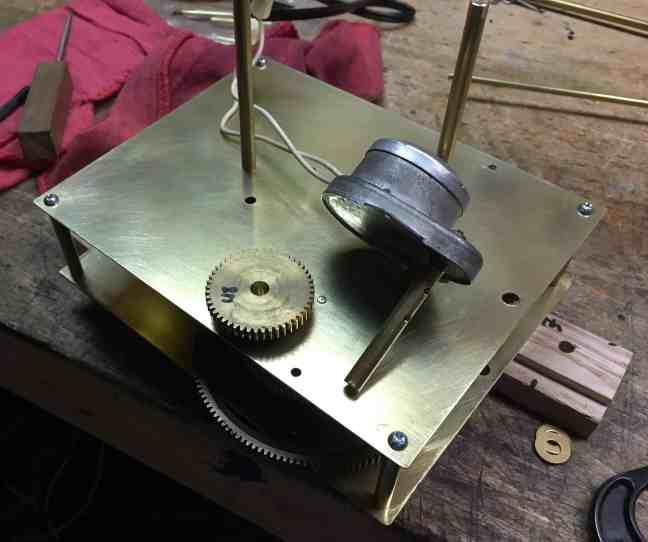 Orrery drive gear and shaft