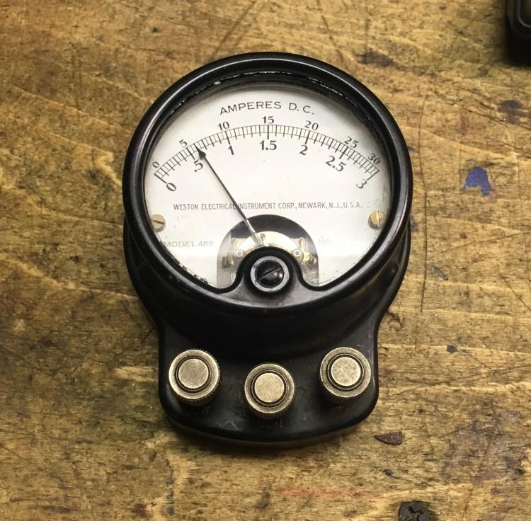 1-Vintage ammeter