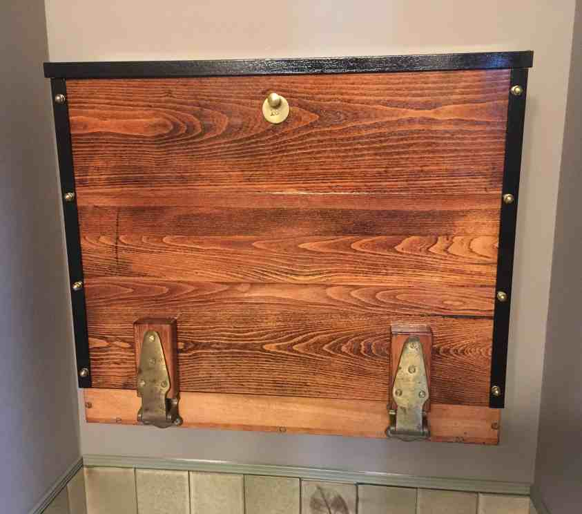 Antique Sourced Steampunk Wall Cabinet