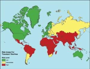 travelers-diarrhea-risk-map