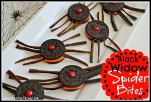 Black Widow Spider Bites Cookies