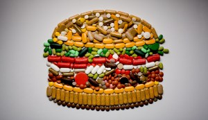 Burger made out of pills