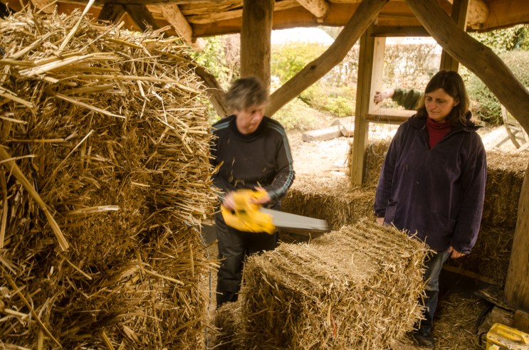Bales are customised to fit snugly around the frame