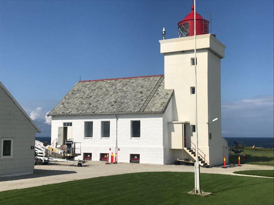 lime washed lighthouse