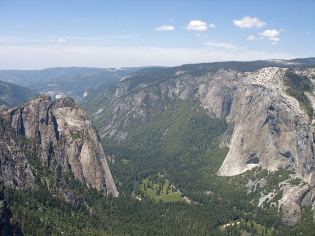 Cathedral Rocks and El Capitan from Taft Point (one of my favorite places in Yosemite).