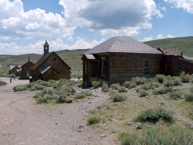 Church and other buildings at Bodie