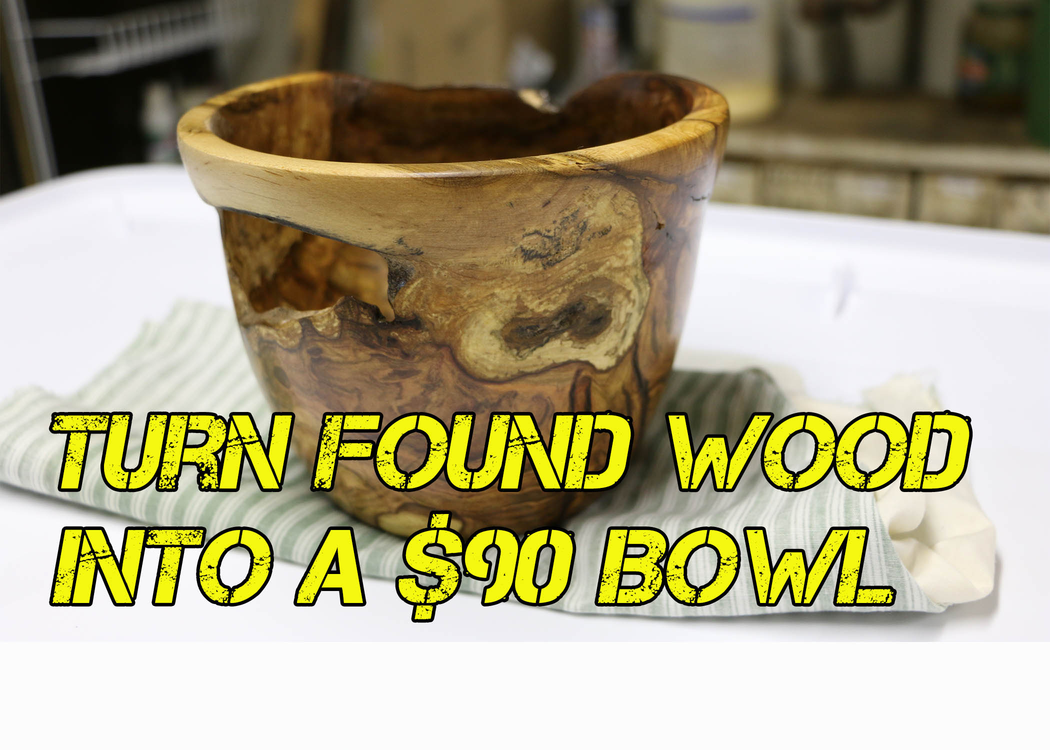$90 wooden bowl made from firewood