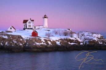 Winter Nubble, Pastel Sky