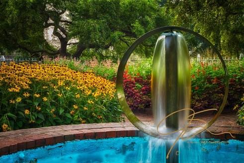 Round Water Sculpture, Prescott Park Garden Fountain, Portsmouth