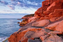 Morning Glow. Otter Cliffs, Acadia National Park, Maine.