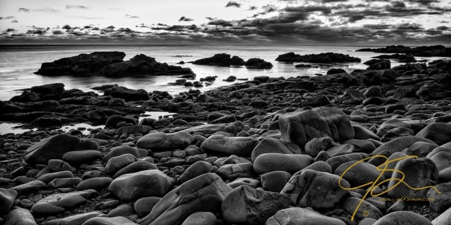Boulders At Sunrise, Marginal Way.