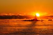 Winter Sunrise Whaleback Light.