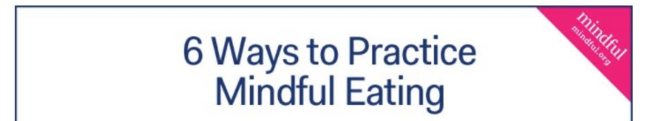 Mindful Eating Food Stress Diet