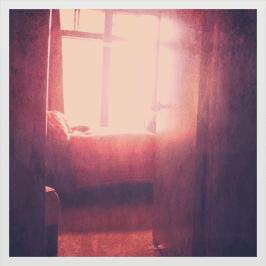 phenomena shining through window