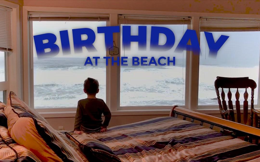 A Birthday Beach Party at Depoe Bay, Oregon