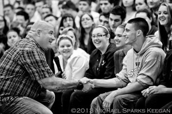 Jeff Yalden, Youth Speaker at Old Colony Regional Vocational Technical High School - Motivational High School Assembly