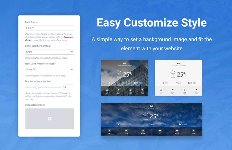 Jeg Weather Forecast WordPress Plugin - Add Ons for Elementor and WPBakery Page Builder - 3
