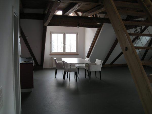 Wohnzimmer im Dachstock