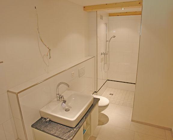Badezimmer im Flarzhaus Gibswil