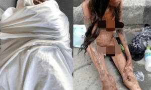 Update on NAKED Emaciated Woman filmed at Jubilee bridge AJAH LAGOS State