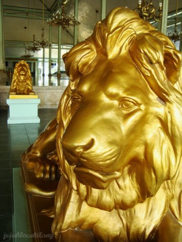 lion statue in Mangkunegaran palace - Solo