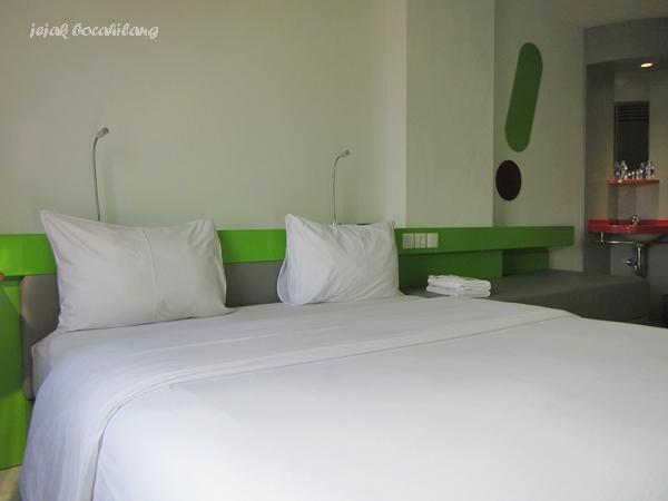 kamar di POP! Hotel Bandar Lampung