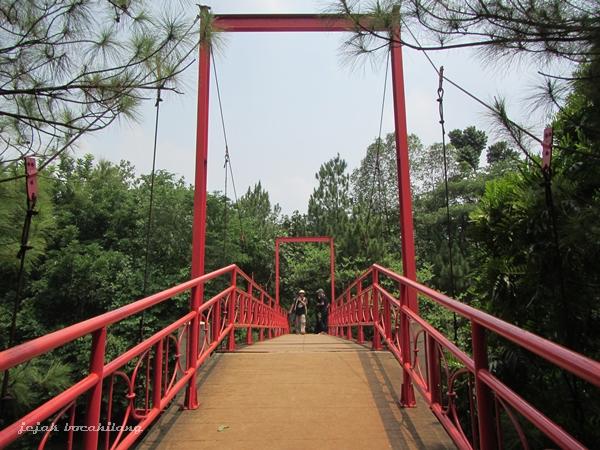 jembatan menuju Hutan Kota 2 BSD