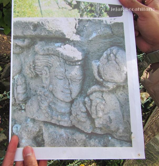 relief seorang dewi di Candi Pringapus