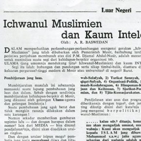 Ichwanul Muslimin dan Kaum Intelek (Majalah Hikmah tahun 1954)
