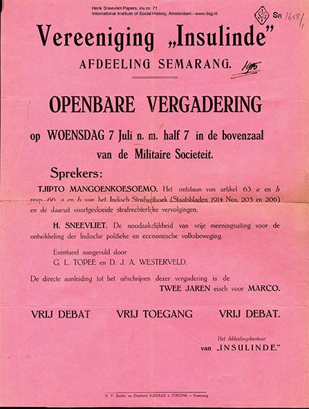 Gambar 1.6 Salah satu pamflet ISDV. Sumber foto: International Institute of Social History. www.iisg.nl
