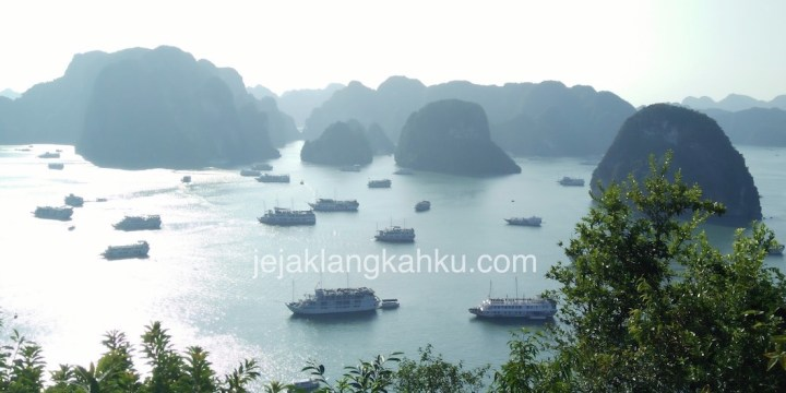 Halong Bay View From The Top of Ti Top Island, Vietnam