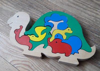 Puzzle 3D tortue en bois