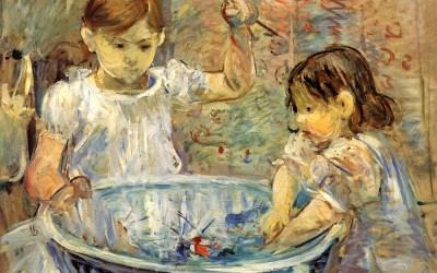 Enfants à la vasque, Huile sur toile, Berthe Morisot 1886
