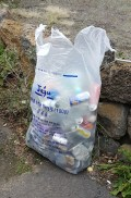 2016-01-Jeju-Olle-Trail-Clean Olle-Route11-Collecting the Trash
