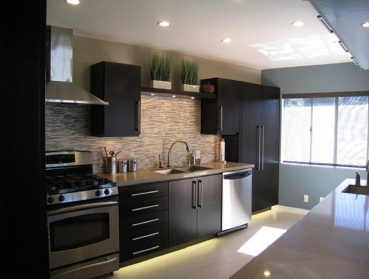 Modern kitchens with black appliances