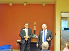 Past LCI President Jim Ervin (left) and current LCI President Bob Corlew (right)