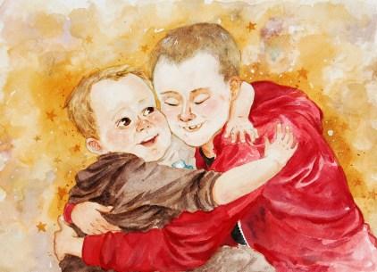 """Watercolour, 12x16"""" Portrait Commission"""