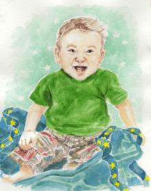 """Watercolour, 5x7"""" Portrait Commission"""
