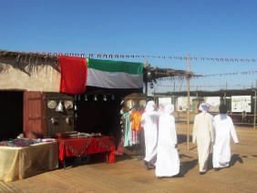 Emiratis exploring the souqs