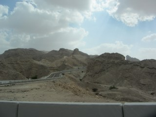 Travelling up Jebel Hafeet