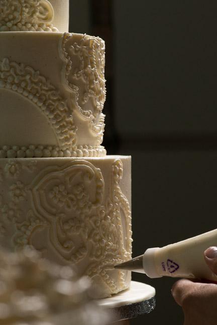 detail photo wedding cake