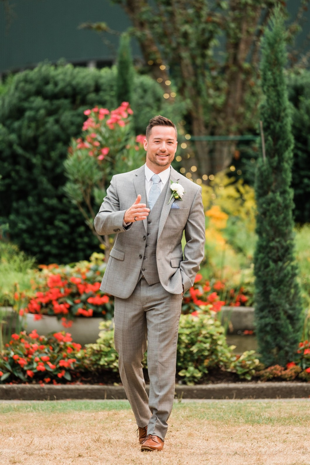Stanley Park Pavilion wedding groom