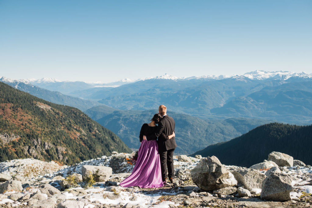 Squamish adventure helicopter elopement