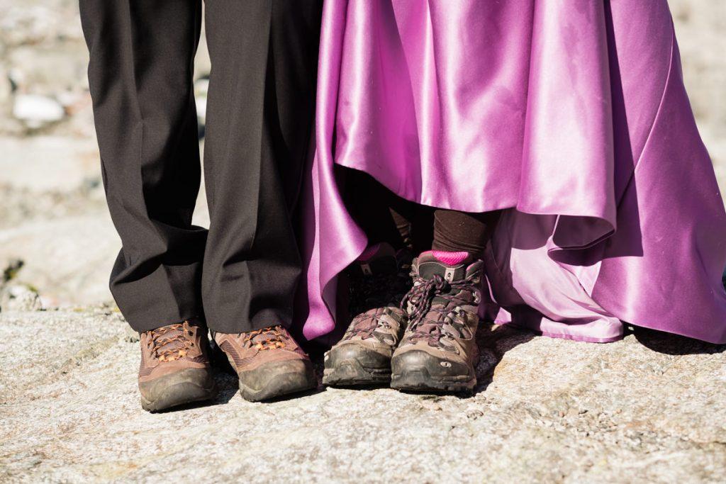 adventure elopement shoes