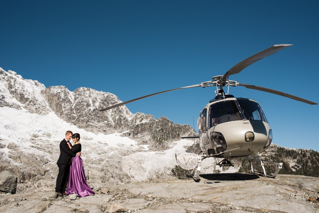 helicopter elopement Squamish
