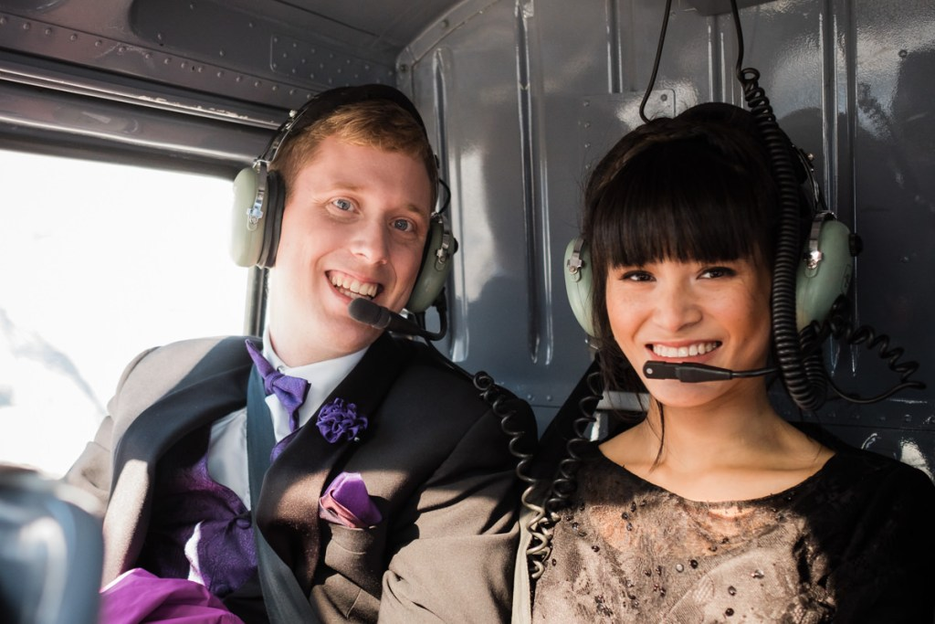 helicopter elopement couple Squamish
