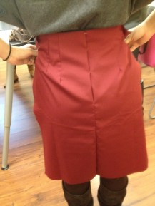 Sewing: Skirt Back