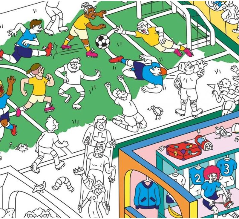 Coloring Poster - FOOTBALL-Coloring Poster-OMY-jellyfishkids.com.cy