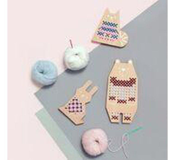 Cross Stitch friends - Rabbit-CROSS STITCH-MOON PICNIC-jellyfishkids.com.cy