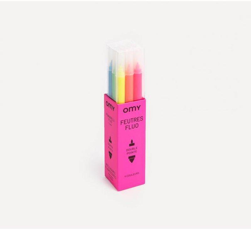 Felt Pens- Neon-Gel Crayons-OMY-jellyfishkids.com.cy